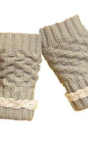 damer korte blondehansker (lys grå kort blonder hansker)