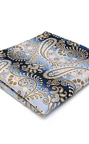 Mens Pocket Square Blue Paisley Hanky Handkerchief For Men Dress