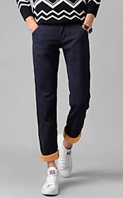 Pantalon Aux femmes Mince / Droit / Chino simple Coton / Spandex Non Elastique