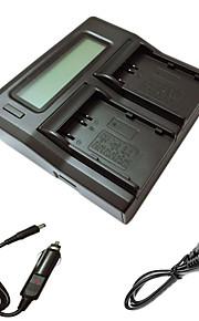 ismartdigi EL3e lcd dubbele lader met auto-oplaadkabel voor Nikon D90 D80 D300S d300 d700 d200 enel3e camera batterys