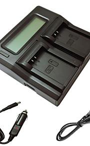 ismartdigi lpe12 lcd dubbele lader met auto-oplaadkabel voor Canon LP-E12 eos m m2 m10 100d camera batterys