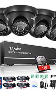 sannce 720p 8-kanaals HD DVR outdoor ir home security camera 1080n CCTV-systeem ingebouwde 1TB hdd