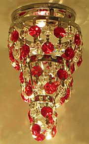 Home Hallway Mini Octagon Crystal Chandelier Ceiling Lamp Led Light