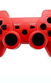 6 akse trådløs Bluetooth controller og oplader kabel til Sony PS3 konsol spil (assorterede farver)