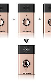 Wireless voice intercom door-bell ABS Ikke-visuelle dørklokker Trådløs Dørklokke System
