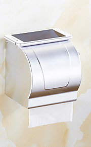 Porte Papier Toilette / BrosséAluminium /Contemporain