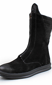 Men's Boots Spring Fall Winter Comfort Suede Outdoor Casual Party & Evening Black