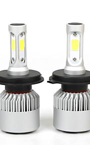 2pcs / sæt h4 36W 80000lm hi / nærlys bil førte forlygter pærer tåge belysning lamper h4 hi / lo førte auto bil hoved belysninger