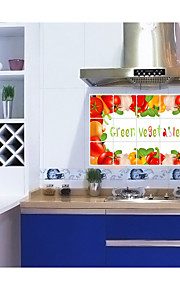 Vegetables In The Kitchen Ceramic Tile wall Prevent Oil Stickers