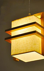 40 Pendant Light   Modern/Contemporary Wood Feature For LED Wood/Bamboo Bedroom Dining Room Kids Room Hallway