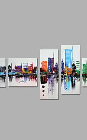 手描きの 抽象画 任意の形状,Modern 5枚 キャンバス ハング塗装油絵 For ホームデコレーション
