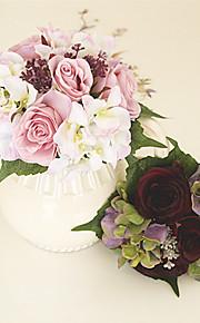 Свадебные цветы Круглый Розы Букеты Свадьба Шёлк Около 20 см