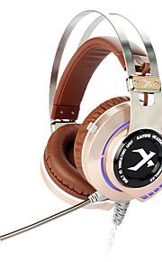 xiberia k2 computer gaming headset met microfoon gloeiende USB LED hoofdtelefoon voor pc gamer surround sound schudden écouteur