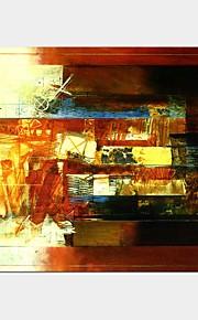 Håndmalte Abstrakt fantasi Horisontal Panorama,Klassisk Moderne Et Panel Lerret Hang malte oljemaleri For Hjem Dekor