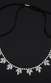 Clover Flower Silver Crystal Rhinestone Headpiece-Wedding Special Occasion Casual Headbands 1 Piece