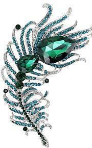 Broches Bergkristal Zirkonia Kubieke Zirkonia Zilver Bergkristallen Sieraden Bruiloft Feest Speciale gelegenheden Dagelijks