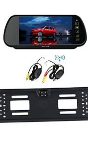 bil trådløs 7 LCD-skærm / spejl europæiske nummerplade 170 hd bil nattesyn bakkamera