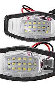 2 x 8 førte 1210 SMD nummerplade lys lampe til Honda Accord 4d civic odyssé city 4d