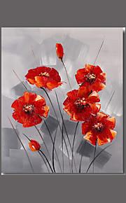 Håndmalte Abstrakt Blomstret/Botanisk Horisontal,Moderne Europeisk Stil Et Panel Hang malte oljemaleri For Hjem Dekor