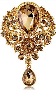 Broches Peridot Bergkristal Gouden Cirkelvormig ontwerp Uniek ontwerp Modieus Sieraden Bruiloft Feest Dagelijks