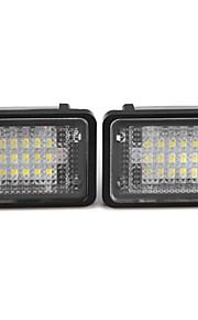 2 x hvid 18 førte 3528 SMD nummerplade-lygter lampe til Benz GLK x204 350