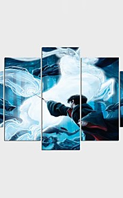 Stretched Canvas Print People Fantasy Style Modern,Five Panels Canvas Any Shape Print Wall Decor For Home Decoration