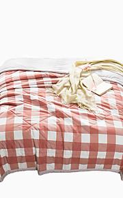אריג משובץ שמיכות חוֹמֶר זוגי קווין 1 יחידה שמיכה
