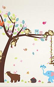 Animali Botanica Moda Adesivi murali Adesivi aereo da parete Adesivi decorativi da parete,Vinile Materiale Decorazioni per la casaSticker