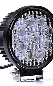 27W hvid 6000K førte bil spotlights arbejdslampe hoved lampe lastbil motorcykel road tågelygte traktor bil førte forlygte lyser arbejde