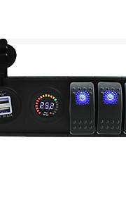 dc 24v geleid digitale voltmeter 3.1a usb aansluiting met toggle tuimelschakelaar jumper draden en huisvesting houder
