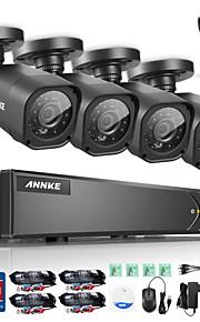 annke 8-kanaals ONVIF ahd dvr 4 stuks 720p 1.0MP night vision camera controle systeem e-mail alert ingebouwde 1TB