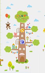Animales Botánico De moda Pegatinas de pared Calcomanías de Aviones para ParedCalcomanías Decorativas de Pared Calcomanías Para Medir la
