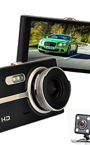 nachtzicht auto dvr Novatek 96.655 full hd car video recorder 4.0 inch 1080p video registrator g-sensor auto-camera met dubbele lens