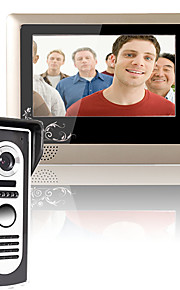 mountainone 7 tommer video dørtelefon dørklokken intercom-system kit 1-kamera 1-monitor nattesyn