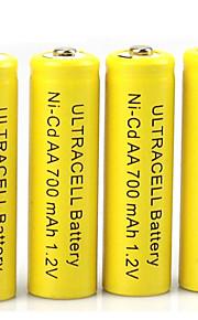 HBB aa nikkel-cadmium genopladelige batteri 1.2V 400mAh 20 pack