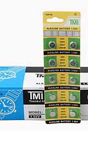 tmi AG3 mønt&knapcelle Cardon zink batteri 1.55V 10 pack