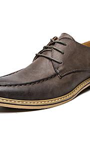 Homme-Mariage Bureau & Travail Décontracté Soirée & Evénement-Noir Jaune Kaki-Talon Plat-Confort Chaussures formelles-Chaussures de