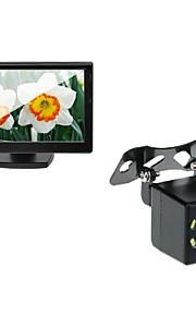 5 auto tft lcd-monitor en auto achteruitrijcamera backup 8LED night vision camera