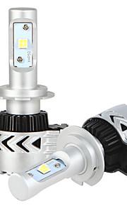 2x H7 Headlight Conversion Kits with Headlight Bulbs Bridgelux COB Chip 2x 36w LED driver 7200LM