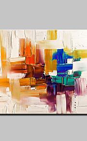 Pintados à mão Abstrato Horizontal,Moderno Estilo Europeu 1 Painel Tela Pintura a Óleo For Decoração para casa