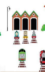 Мультипликация Наклейки Простые наклейки Декоративные наклейки на стены,Винил материал Украшение дома Наклейка на стену