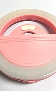 Mobiltelefon lys led selvudløser lampe usb opladning skønhed flash nat lys indbygget lithium batteri pink