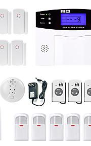 Danmini lcd wirless gsm / pstn home office ufficio sicurezza antifurto intruso sistema di allarme fumo induzione