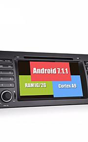 Bonroad android 7.1.1 quad core 1024 600 bil video dvd afspiller til e39 e53 radio rds gps navigation bluetooth skærm wifi