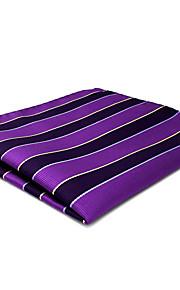 CH31 Business Men's Pocket Square Handkerchiefs Navy Blue Purple 100% Silk Classic Unique Handmade Jacquard Woven
