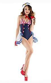 Cosplay Kostumer Party-kostyme Maskerade Soldat/Kriger Film-Cosplay Trikot/Heldraktskostymer Halstørklæ Hatt Halloween Karneval Kvinnelig