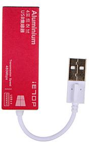 IETOP 4 porttia USB-keskitin USB 2.0 Tulosuoja Data Hub