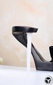 Zentimeter weit verbreitet mit Keramik-Ventil einzigen Griff ein Loch für Öl-rieb Bronze, Waschbecken Wasserhahn