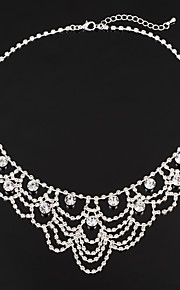 Women's Choker Necklaces Rhinestone AAA Cubic Zirconia Classic Elegant Jewelry For Wedding Anniversary Party/Evening