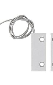 Mc - 52 vitres magnétiques câblées métalliques / capteur de porte alarme de contact avec deux fils pour porte roulante